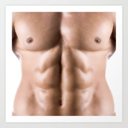 Hot muscle male torso for sexy deco Art Print