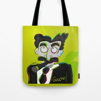 marx Tote Bags featuring Groucho Marx by EarlyHuman