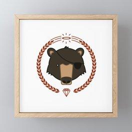 Mr. Bear Framed Mini Art Print