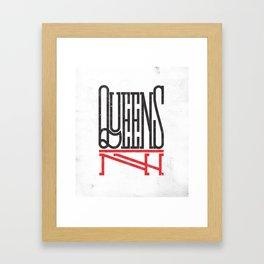 Queens NY Framed Art Print
