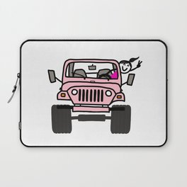 Jeep Wave Pink - Girl Laptop Sleeve