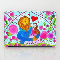 beauty and the beast iPad Cases featuring Beauty and the Beast by Sandra Nascimento