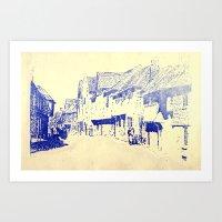 england Art Prints featuring England  by Melanie Hopper