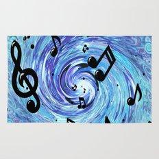 Musical Blue Rug