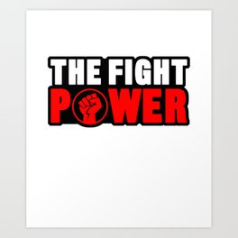 The Power Fight Punch Gloves Boxing Punching Boxer Combat Sport Strike Gift Art Print
