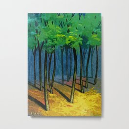 Sunset light in the forest Metal Print