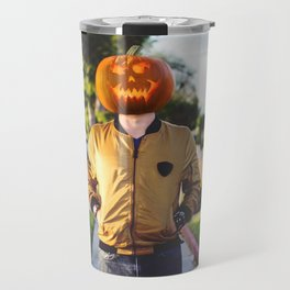Pumpkin Head Travel Mug