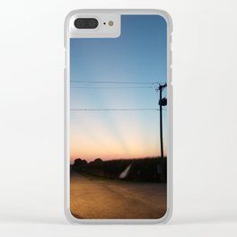 Streaked sunset Clear iPhone Case