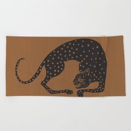 Blockprint Cheetah Beach Towel