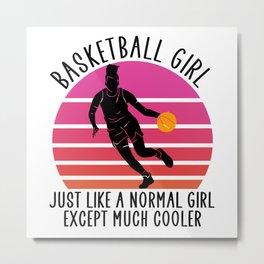 basketball girl Metal Print