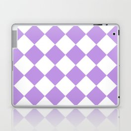 Large Diamonds - White and Light Violet Laptop & iPad Skin