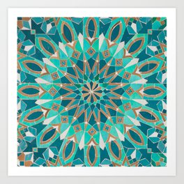 Zellige - Morocco - Casablanca III Art Print