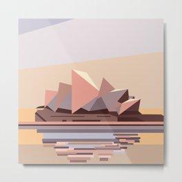 Geometric Opera House, Sydney Metal Print