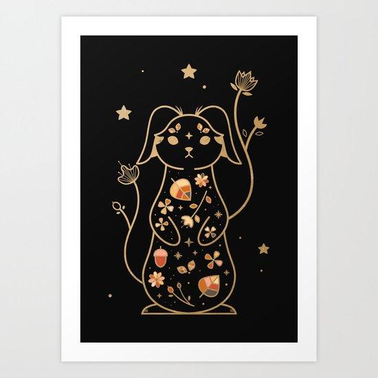 The Autumn Rabbit Art Print