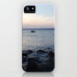 Kayaker Leith Edinburgh iPhone Case