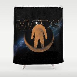 Mars (w/text) Shower Curtain