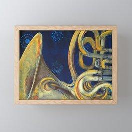 French Horn Framed Mini Art Print