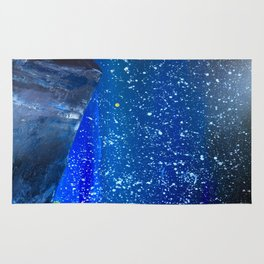 Moon Rising as an orange dot in the Great Sand Dunes National Park, USA travel Rug