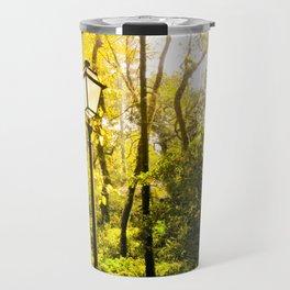 Street Light in the Forest Travel Mug