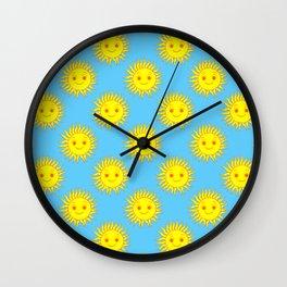 Smile Sun Face Pattern Wall Clock