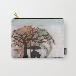 under a tree as rain falls Carry-All Pouch
