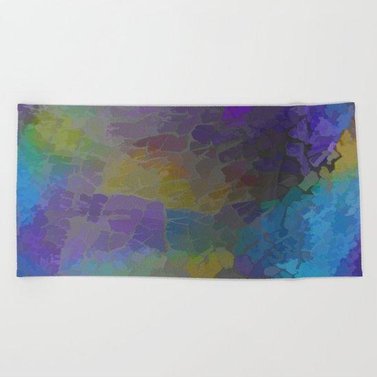 Rainbow Mosaic Abstract Beach Towel