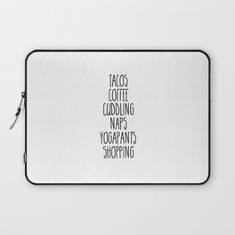 Tacos & Coffee Funny Quote Laptop Sleeve