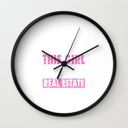 This Girl Sells Real Estate Distressed Wall Clock
