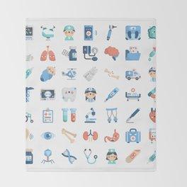 CUTE MEDICINE / SCIENCE / DOCTOR PATTERN Throw Blanket