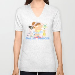 Ballet Dancer Unisex V-Neck