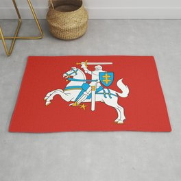 State Flag of Lithuania Knight On Red Rug
