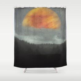 Spaces XVI - Fireball Shower Curtain
