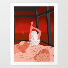 Red Morning Art Print