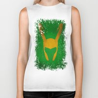 loki Biker Tanks featuring Loki by Some_Designs