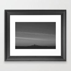 Monochrome Mt. Hood Framed Art Print