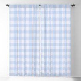 Gingham Pattern - Blue Blackout Curtain