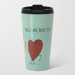only love beats milk Travel Mug