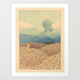 Diasy Fields Art Print