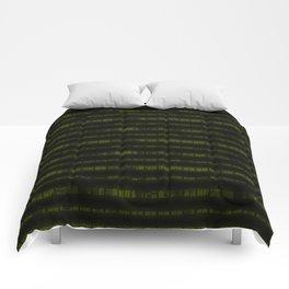 Lime Dna Data Code Comforters
