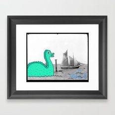 Moby Duck Framed Art Print