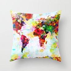 World Map - 4 Throw Pillow