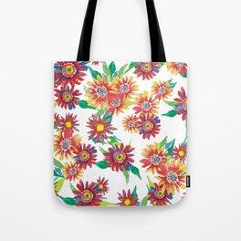 Bright watercolor daisies Tote Bag