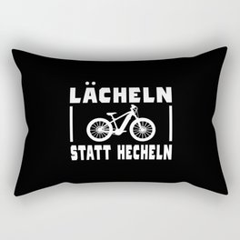 Bicycle Saying Funny Smile Instead Of Panting Rectangular Pillow