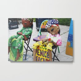 Venice Beach Alien Metal Print