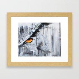 owl eye night vision Framed Art Print