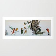Fairy Parade Art Print