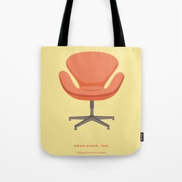 Mid-Century Swan Chair Tote Bag