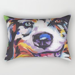 Fun AUSTRALIAN SHEPHERD Dog bright colorful Pop Art Rectangular Pillow