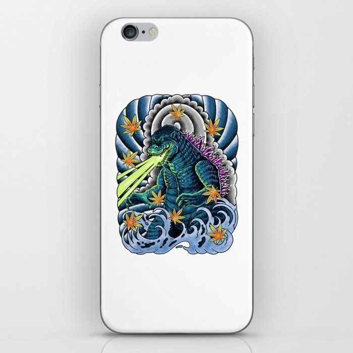 king of monster japanese tattoo iPhone Skin