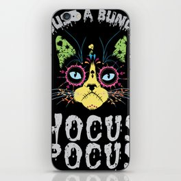 Hocus Pocus Cat - Funny Halloween Cat iPhone Skin